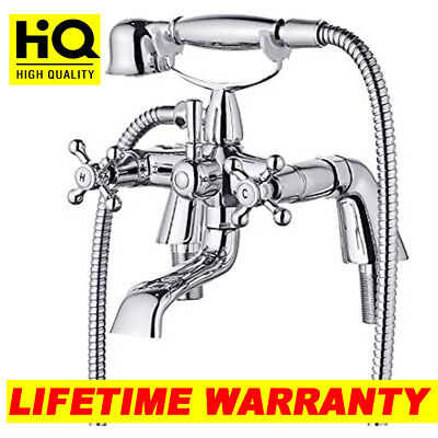 £12.52 • Buy Chrome Traditional Bath Filler Shower Mixer Tap With Handset Bathroom Taps