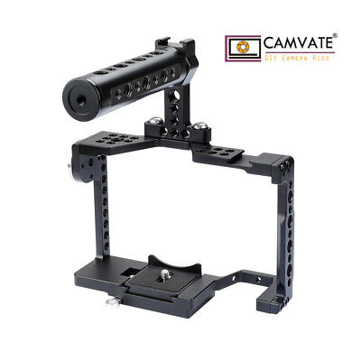 $ CDN161.81 • Buy CAMVATE Camera Cage Shoe Rosette Mount Top Handle For Sony A7SII A7III A7RIII A9