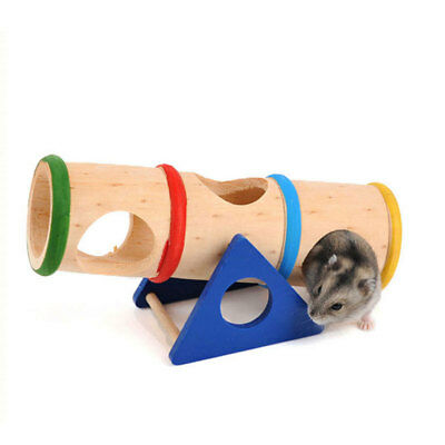 £8.10 • Buy New Style Mini Hamster Pure Natural Wooden Safety Seesaw Ladder Toy Hamster Toy