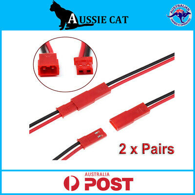 AU4.95 • Buy 2 Pairs IMC 150mm JST Male& Female Cable Connector Plug For RC BEC LiPo Battery