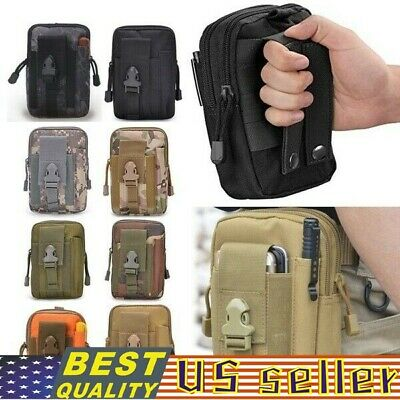 $7.58 • Buy New Military Tactical Outdoor Bag Waist Belt Pack Molle Pouch Fanny Phone Pocket