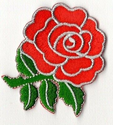 Red Rose Embroidered Patch. Sew Or Iron. Full Instructions. Lancashire. Lover • 2£