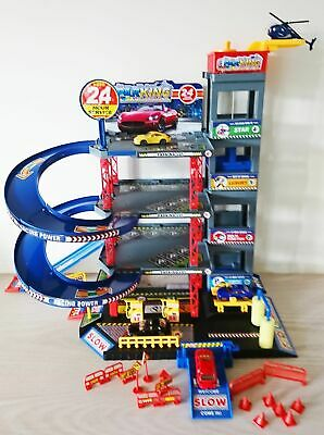 Garage City Parking Playset With 4 Cars & Helicopter Toy NEW • 29.95£