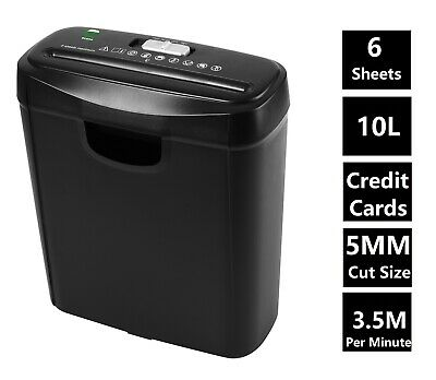£18.99 • Buy Econo Strip Cut Paper Shredder For Home Office Electric 6 A4 Sheets 10L Litre