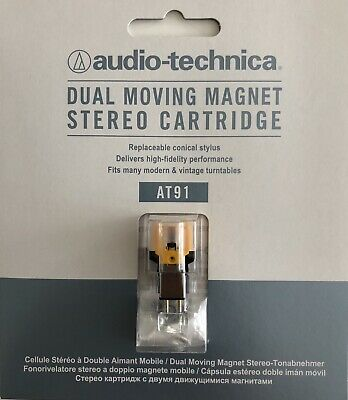 AUDIO TECHNICA AT91 Dual Moving Magnet Stereo Cartridge. • 24£