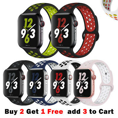 AU8.40 • Buy Sport Silicone Strap IWatch Band For Apple Watch Series 6 5 4 321 SE 40 44 38 42