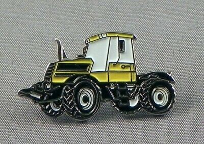 JCB Fastrac Tractor Pin Badge. Yellow Design. Fast Track. Metal Enamel. Farming • 1.50£