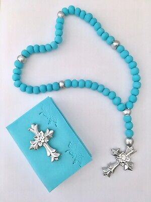 Holy Communion Bible And Rosary In A Blue,pink Or Any Colour Edible Cake Topper • 22.99£
