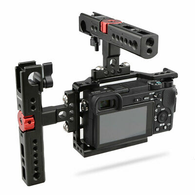 $ CDN179.06 • Buy CAMVATE Handheld Camera Cage W/ 2 Cheese Handles Mount Fr Sony A6500 4k Aluminum