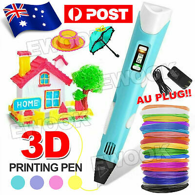 AU25.99 • Buy 3D Printing Pen Crafting Doodle Drawing Art Printer Modeling PLA Xmas Gift AU