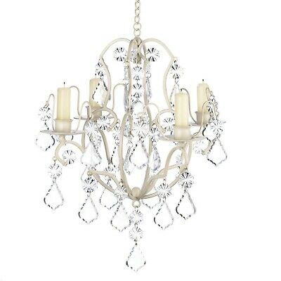 Baroque Chandelier Ivory Metal Candle Holder • 43.02£