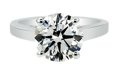 AU5793.30 • Buy 2.44ct Natural Round Diamond Solitaire Engagement Ring L SI2 (Watch Video)