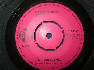 The Honeycombs – Have I The Right? Pye Records 7N.15664 UK Vinyl 7inch Single • 12.78£