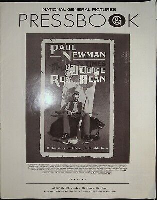 The Life And Times Of Judge Roy Bean Pressbook 1972 Paul Newman, Ava Gardner  • 6.35£