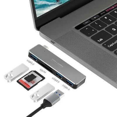 £12.90 • Buy 5 In 1 USB Type C HUB Adapter SD/TF Card Reader For MacBook Air/Pro USB 3.0 -UK