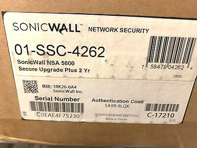 $12000 • Buy SonicWall   NSA 5600 SECURE UPGRADE PLUS 2YR   01-SSC-4262
