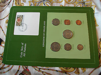 $15.74 • Buy Coin Sets Of All Nations Swaziland 1975-1982 W/card 20 Cents, 1 Lilangeni 1979