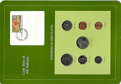 $16.80 • Buy Coin Sets Of All Nations Swaziland 1975-1982 20, 5 Cents, 1 Lilangeni 1979