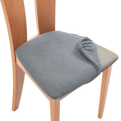 Spandex Jacquard Dining Chair Seat Covers Removable Seat Cushion Slipcovers • 3.79£