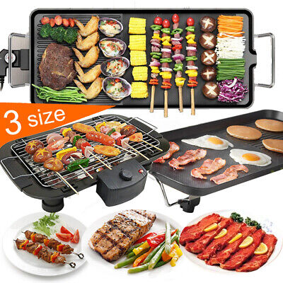 Electric Teppanyaki Table Top Grill Griddle BBQ Hot Plate Barbecue L/XL/XXL Size • 19.90£
