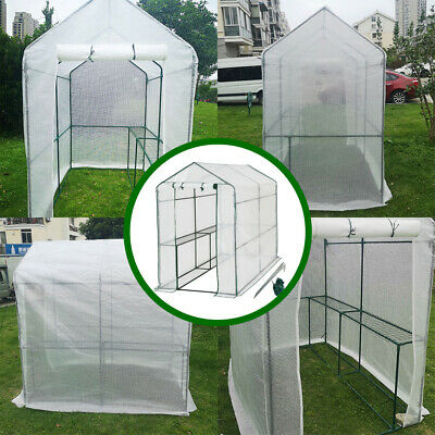 Greenhouse With Shelf PVC Cover Growhouse Outdoor Tent House Plants 186x120x190 • 58.98£
