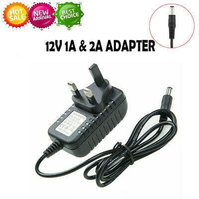 DC 12V 1A/2A UK Plug Power Supply Adapter Wall Charger Transformer  • 6.49£