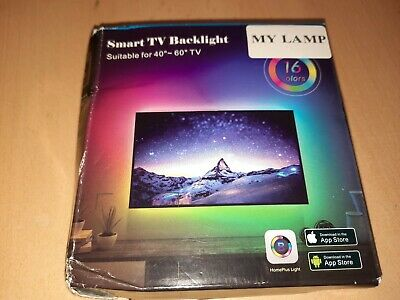 Smart TV Backlight 2M LED + Remote Control Apple Or Android App 40 -60  Screen • 9.99£