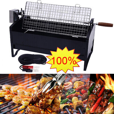 BBQ Barbecue Rotisserie Unit With Motor Stainless Steel Hog Roast Spit Grill UK • 66.95£