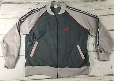 $ CDN41.95 • Buy Vintage Adidas Track Jacket Trefoil Logo Three Stripes Full Zip 80's 90's Sz XL