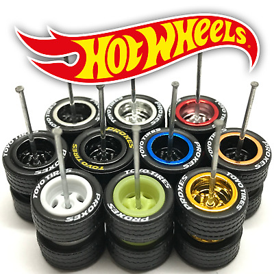 $ CDN7.49 • Buy Hot Wheels 5 SPOKE DEEP DISH Real Riders Wheels And Tires Set For 1/64 Scale