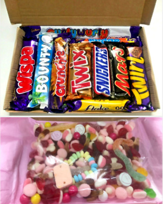 Personalised Letterbox Gift Chocolate Sweet Box Hamper Selection Any Theme • 7.99£
