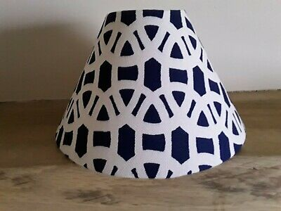 Scion Lace (Navy And White) Cone Lampshade 9.5cm Top 25.5cm Bottom • 25£