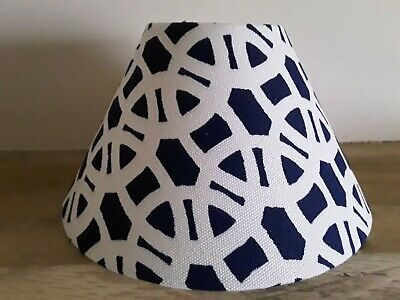 Scion Lace (Navy And White) Cone Lampshade 10cm Top 25.5cm Bottom • 25£