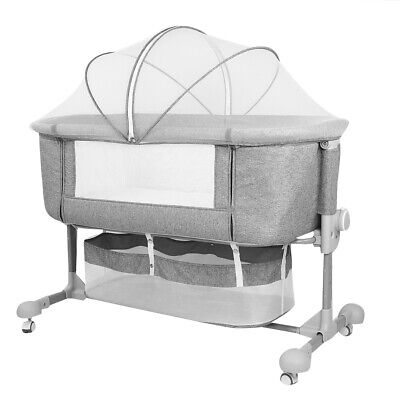 Portable Folding Baby Crib Bedside Cot Bed Anti-Mosquito Net  To Me 50KG Max • 128.95£