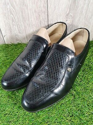 £17.95 • Buy Mens Black Leather Loafer Shoes By SANDERS Size 9 1/2 Made In England