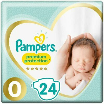 Pampers Premium Protect Micro Size 0 Newborn Nappies Pack Size 24  • 7.99£