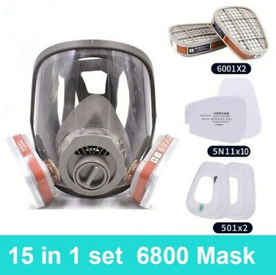 AU13.28 • Buy 15 In1 6800 Full Face Gas Mask Facepiece Respirator For Painting Spraying