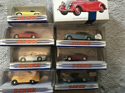 8 X Matchbox Dinky Collection British Cars Bentley Austin Mg Jaguar Triumph • 75£