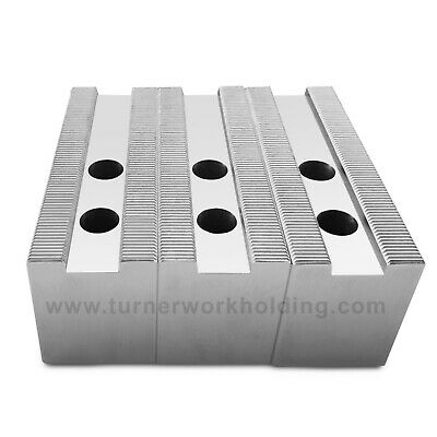 AU37.55 • Buy Soft Jaw Set (3 Pcs) For 6  Kitagawa B206 Samchully Chuck- 2  Ht, Steel, Flat