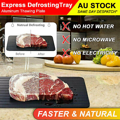 AU19.99 • Buy Defrost Express Fast Defrosting Tray Non-stick Kitchen Board Natural Thawing