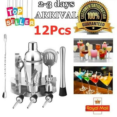 Cocktail Maker Shaker Mixer Stainless Steel Bartender Kit Set Bar Drink Making • 11.99£