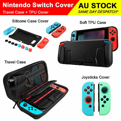 AU8.40 • Buy Nintendo Switch Carry Bag Console Joystick Silicone Cover Soft TPU Case Protecto