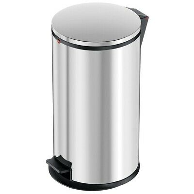 Hailo 0530-010  Pure L  Pedal Kitchen Bin, Stainless Steel, 25 Litre Silver New • 49.99£