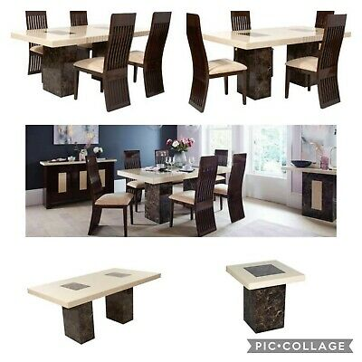 Dfs Strasbourg Full Marble Dining Set With Coffee And Lamp Table Rrp Over 3k Gra • 1,999£