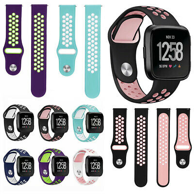$ CDN4.79 • Buy Soft Watch Band Smart Bracelet Silicone Replacement Strap Wrist For Fitbit Versa