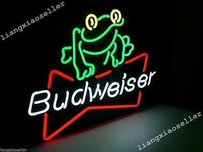 $ CDN159.73 • Buy Budweiser Frog Real Neon Sign Beer Bar Light Home Decor Hand Made Artwork