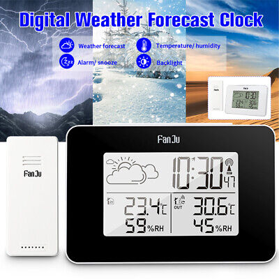 $18.52 • Buy Digital Alarm Clock Weather Station Wireless Sensor Hygrometer Thermometer