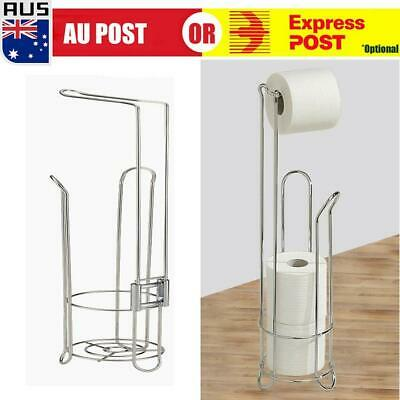AU24.89 • Buy Vintage Free Standing Toilet Paper Roll Holder For Bathroom Storage 17x15x61cm +