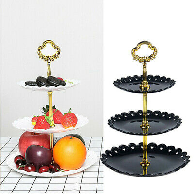 £7.19 • Buy 3 Tier Food Wedding Fruit Party Cake Plate Stand Cupcake Tool Serving Fittings