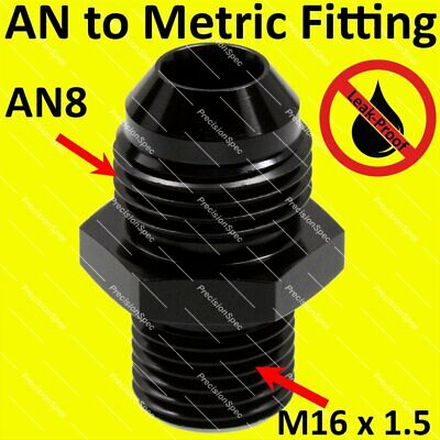 $6.50 • Buy AN8 8AN Male Flare To M16x1.5 Metric Fitting Adapter Aluminium Straight - DN